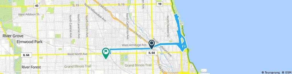 bike tour through Chicago
