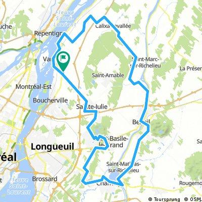 Montérégie, Varennes, Mt St Hilaire, Chambly, Mt St Bruno