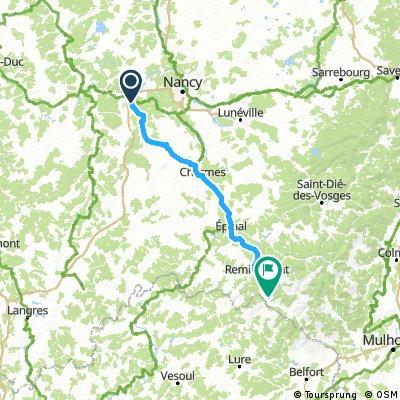 Toul  naar Rupt sur Moselle   Vogezen  125km