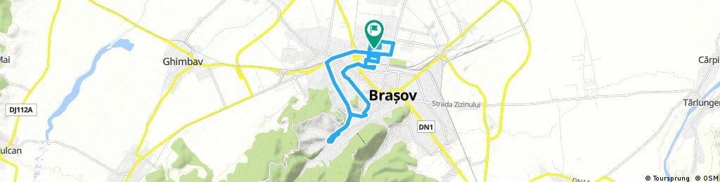 ride through Brașov