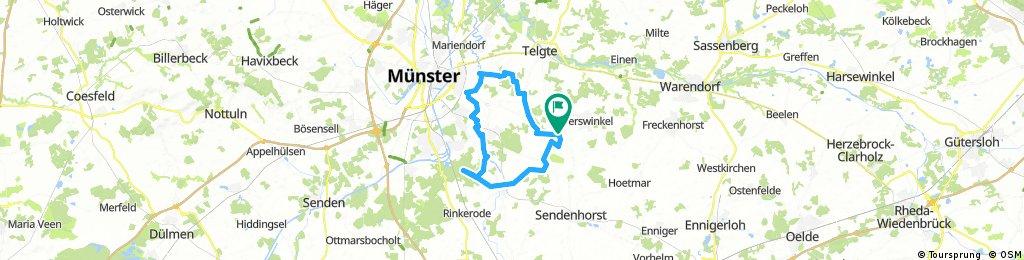 MTB: Pleistermühle, Werse, Angelmodde, Hohe Ward, Albersloh