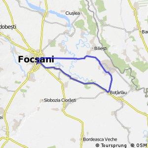 Navigate Km Long Cycling Route In Vrancea Bikemap Your Bike - Focşani map