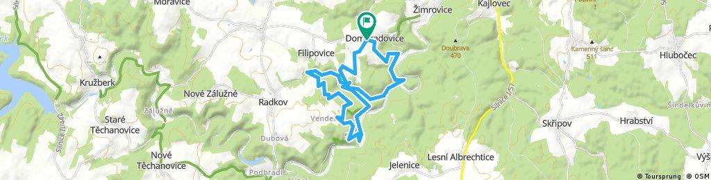 ride through Hradec nad Moravicí