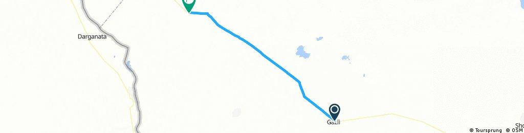 10 - Gazli - buco nel deserto in mezzo al nulla 85 km