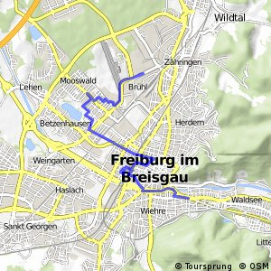 Cycling routes and bike maps in and around Freiburg Bikemap Your