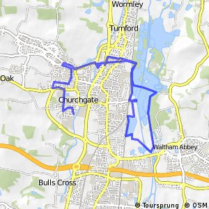 Cycling routes and bike maps in and around Cheshunt Bikemap Your