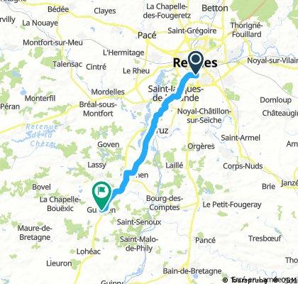 ride through Guignen