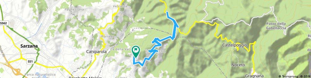 ride through Castelnuovo Magra