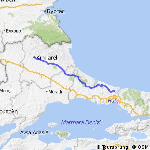 Cycling routes and bike maps in and around Kırklareli | Bikemap ...