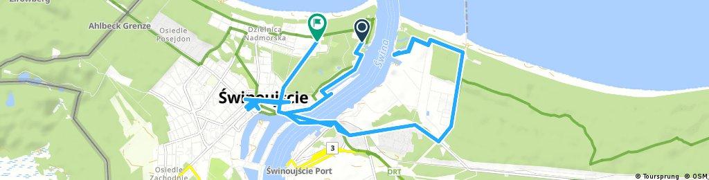 bike tour through Świnoujście