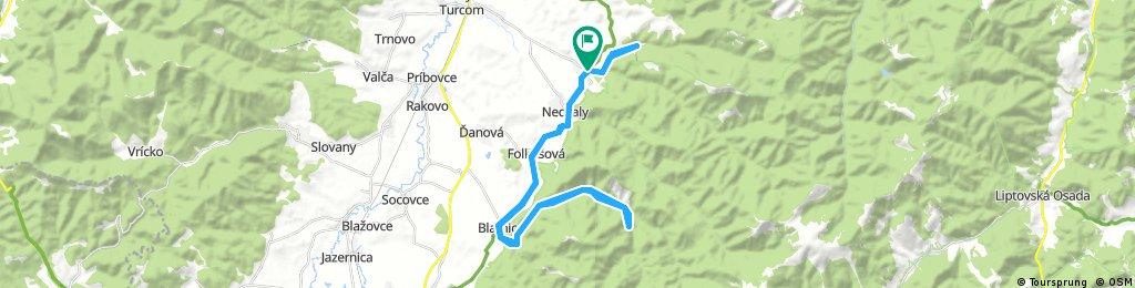 Belá-Dulice - Gaderská - Jasenská dolina - Belá-Dulice