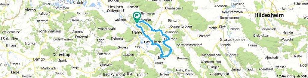 Hameln-Börry durch Wald und Flur