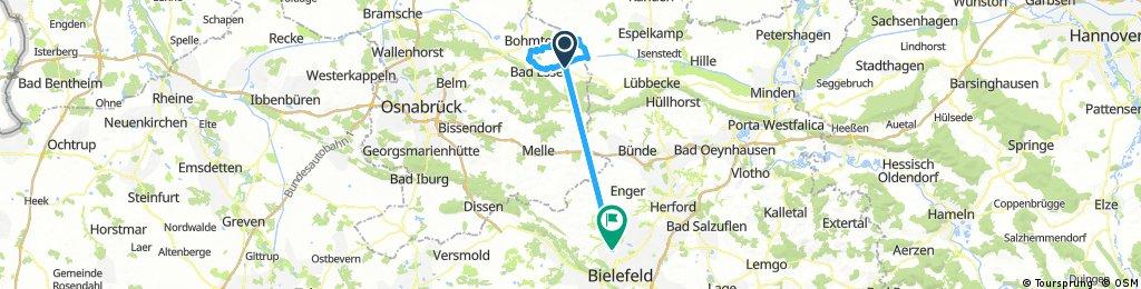 Lange Radrunde von Bad Essen nach Bielefeld