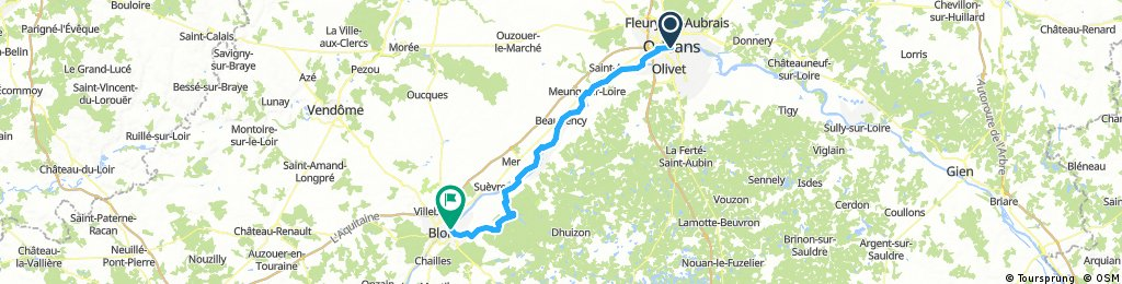 Orleans to Blois
