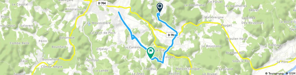 ride from Sarlat-la-Canéda to Carsac-Aillac