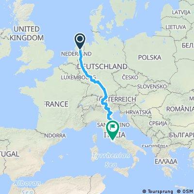 route naar rome