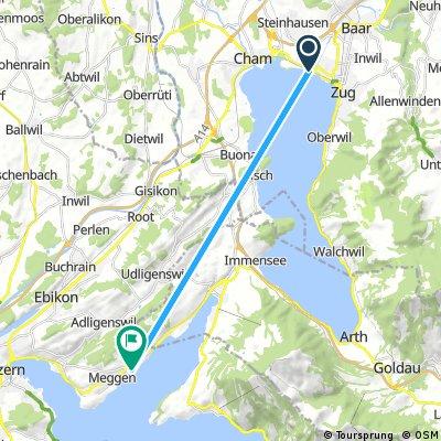 Kurze Radrunde von Zug nach Meggen