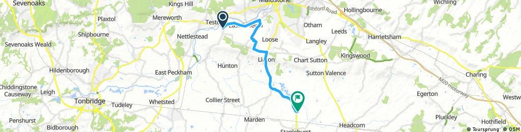 bike tour from Maidstone to Tonbridge