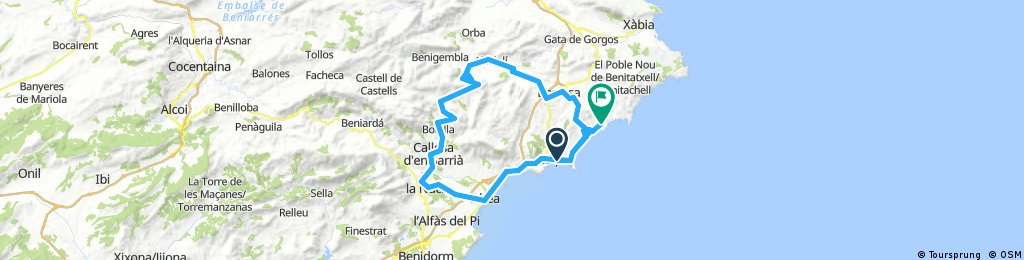 Lengthy ride through Teulada