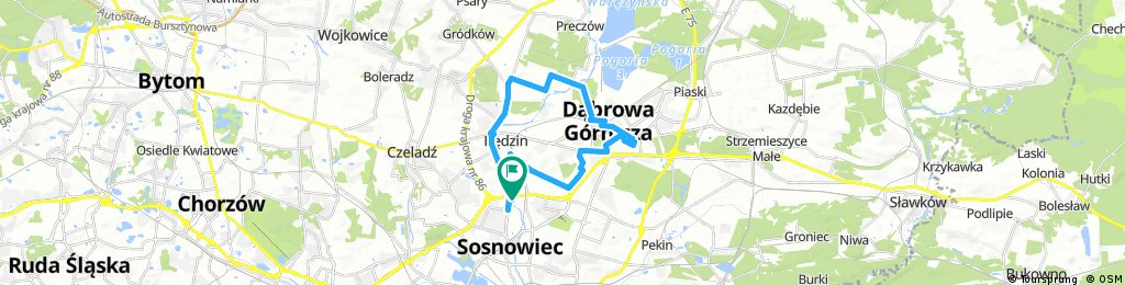 bike tour through Sosnowiec