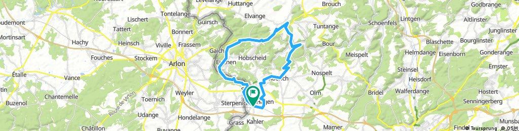 Lengthy bike tour through Steinfort
