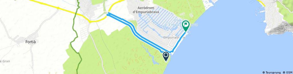 Schnelle Radrunde durch Castelló d'Empúries