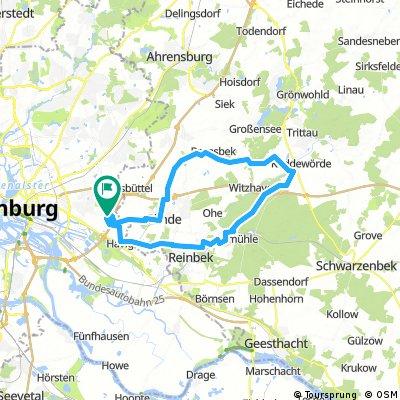 Stellau,Rausdorf,Granderheide,Rotenbek,Sachsenwald,Aumühle,Havighorst