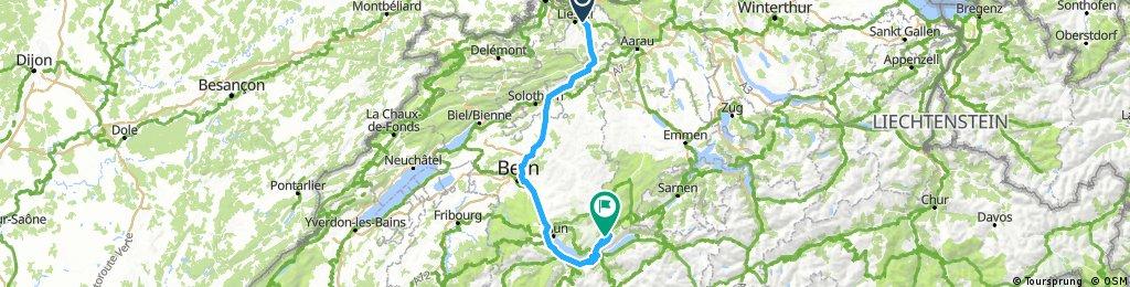Lange Ausfahrt von Itingen nach Habkern