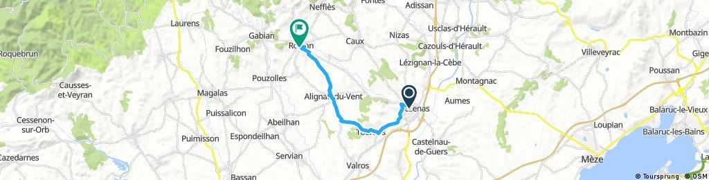 bike tour to Roujan