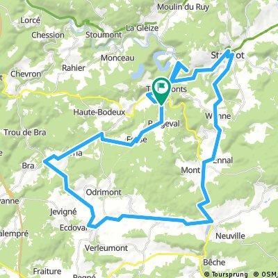 Little 60 km tour around Trois-Ponts