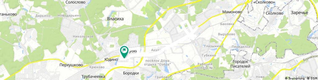 bike tour through Odintsovo