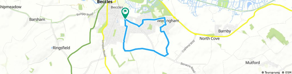 Quick bike tour through Beccles