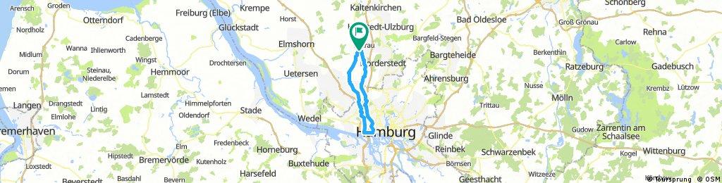 Quickborn, Elbe und zurück