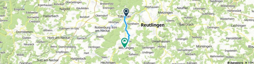 Radrunde von Tübingen nach Mössingen