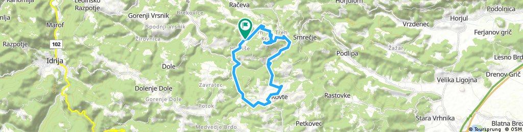 bike tour through Rovte