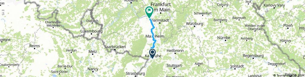 Karlsruhe-Mainz, 150 Km, Komoot