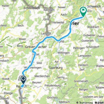 Tour 3 Remich nach Trier
