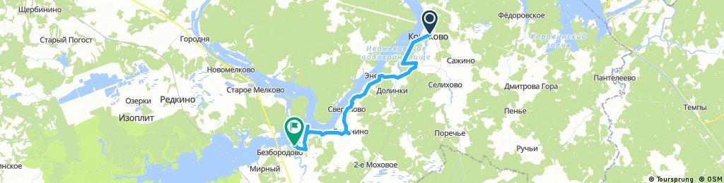 Lengthy bike tour through Varaksino