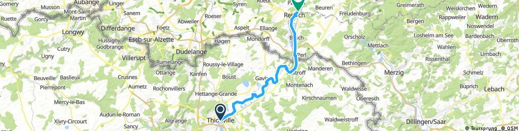 Tour 2 Thionville nach Remich