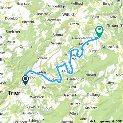 Tour 4 Trier nach Lieser