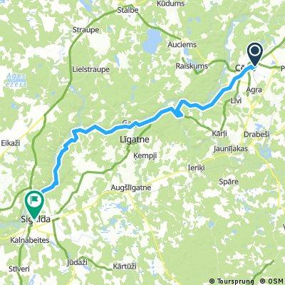 Cēsis - Līgatne - Sigulda
