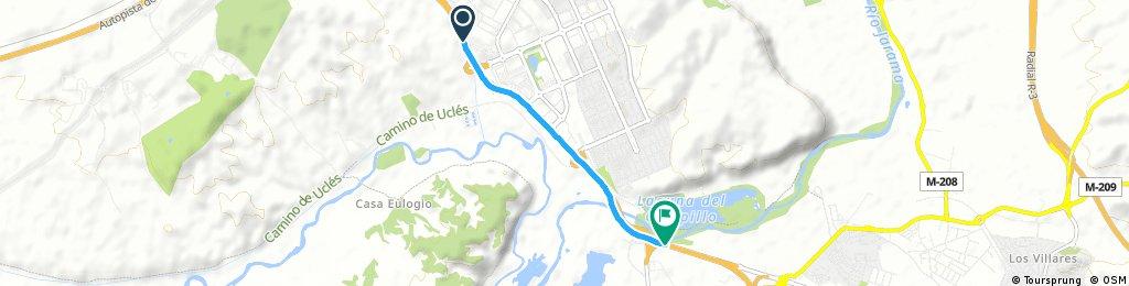 Short bike tour from Rivas-Vaciamadrid to Arganda del Rey