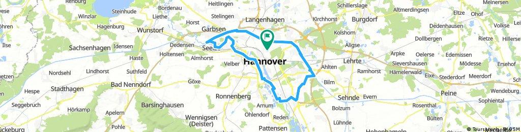 List - Kanal - Leine - Ihme - Maschsee -Park der Sinne - Kronsberge - Kanal - List