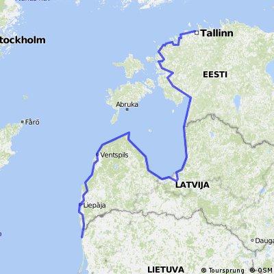 Radwanderung Tallinn - Riga - Palanga - Liepaja
