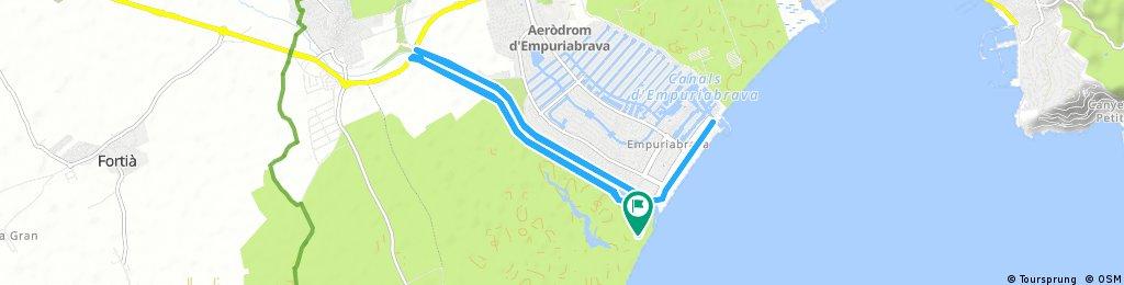 Radrunde durch Castelló d'Empúries