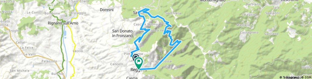 bike tour through Reggello