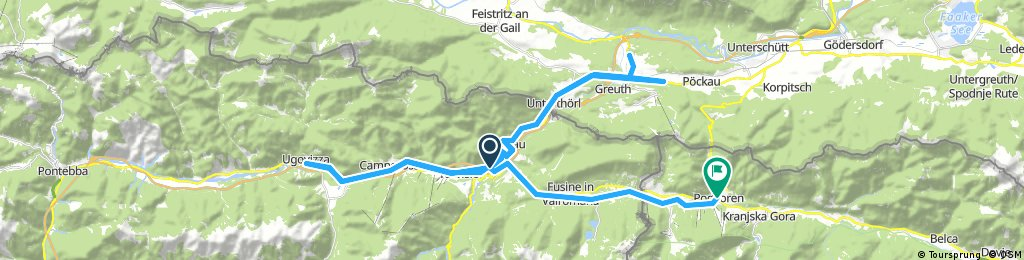 Long ride from Tarvisio to Podkoren