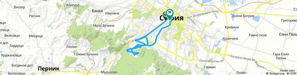 Long ride through Sofia and Vitosha climb