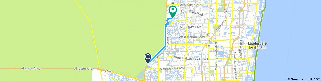 ride from West Broward County to Coral Springs