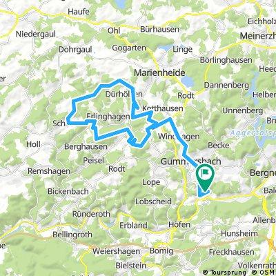 Lange Radrunde durch Gummersbach mit Lindlarer Sagenweg